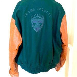 Men's LE COQ SPORTIF Wool Leather Varsity Jacket